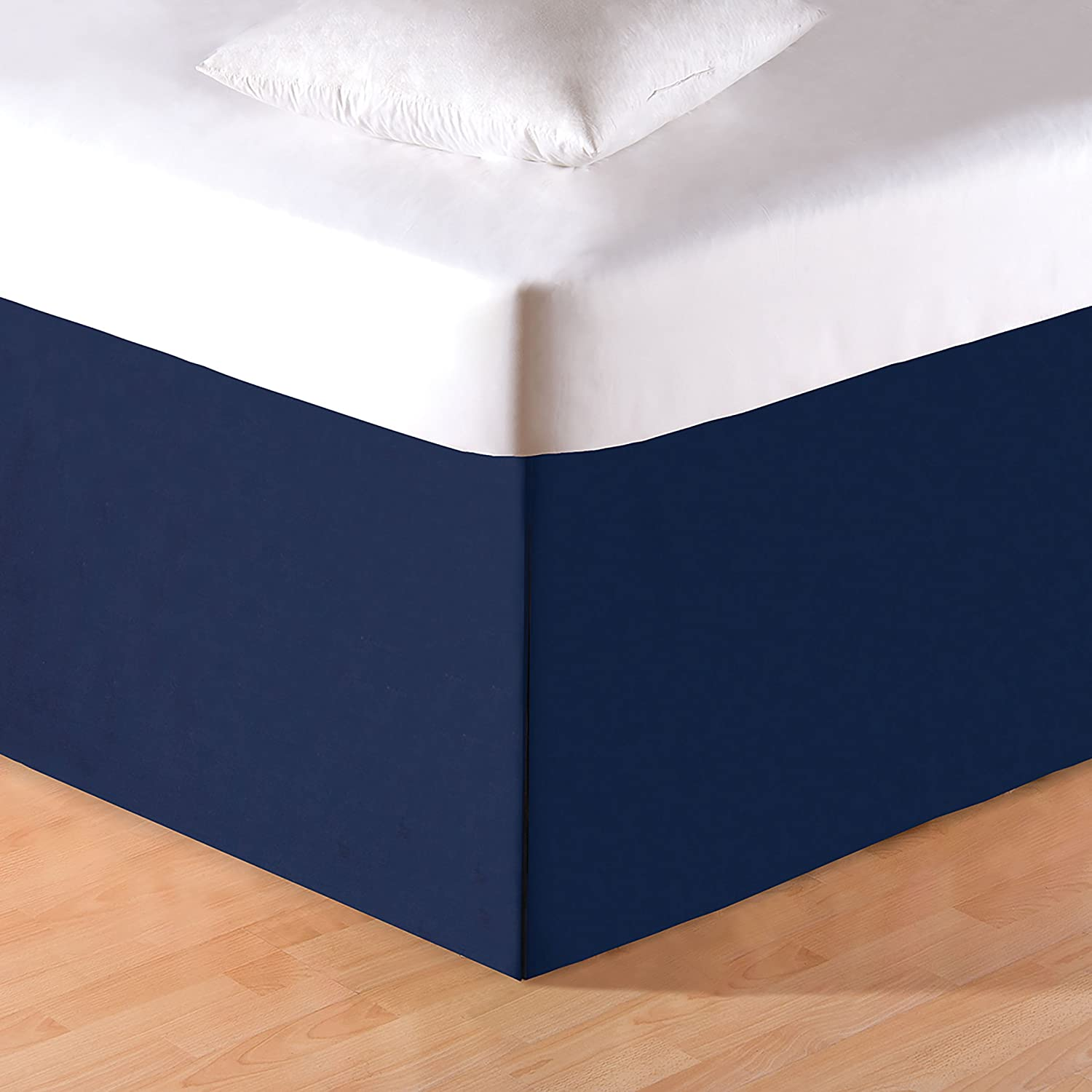C&F Home Solid Blue Queen Bed Skirt Queen Blue