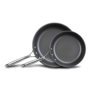 Calphalon Unison Nonstick Slide Surface Omelette Fry Pan, 10-Inch and 12-Inch, Black