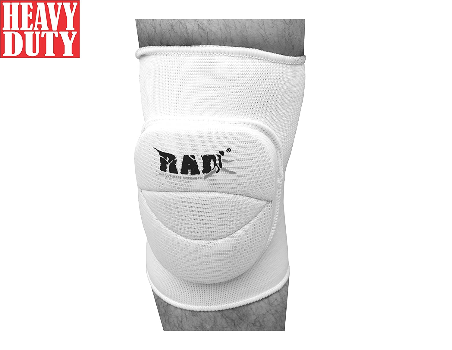 Rad International Inc. RAD One Pair Polycotton Nonslip Elastic Fiber Knee Pads Protector Sports Volleyball Football Gym White, Junior