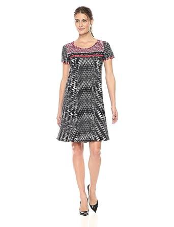 adf68062b8f Amazon.com  Lark   Ro Women s Short Sleeve Scoop Neck T-Shirt Dress ...