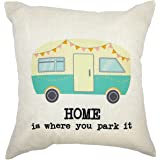 Arundeal Home Is Where You Park It Van 18 x 18 Inch Cotton Linen Square Throw Pillow Cases Cushion Cover