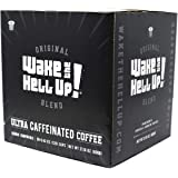 Wake The Hell Up! Dark Roast Single Serve Capsules | Ultra-Caffeinated Coffee For K-Cup Compatible Brewers | 50 Count, 2…