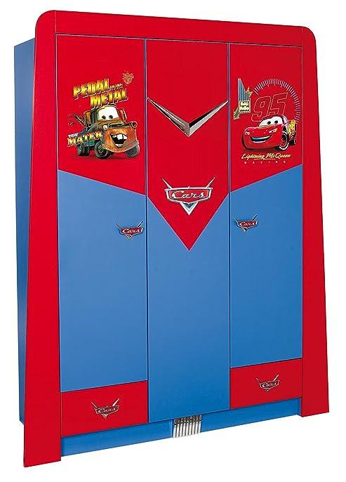 Armoire enfant à 3 portes + 2 tiroirs design cars disney coloris ...