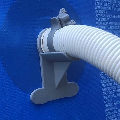 2 Soportes para tuberías de Piscina: Gris, para Tubos de 30 mm a ...