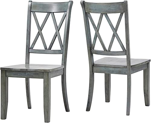 Inspire Q Eleanor Double X Back Wood Dining Chair Set of 2