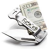 SOG Money Clip Pocket Knife - Cash Card Folding Knife, EDC Knife w/ 2.75 Inch Credit Card Knife Blade and Stainless…