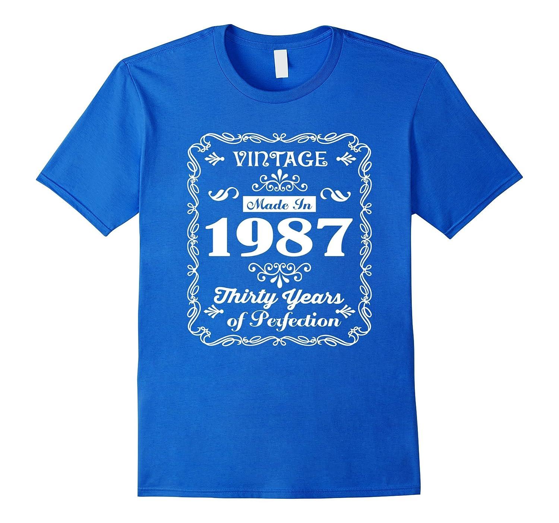 30th Birthday Gift Idea 30 Year Old Boy Girl Shirt 1987 TH