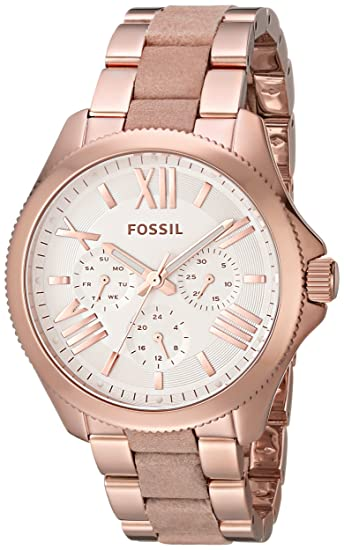309dcb3db43a Fossil Women s AM4622 Cecile Multifunction Rose Gold-Tone Stainless Steel  Watch with Link Bracelet  Amazon.ca  Watches
