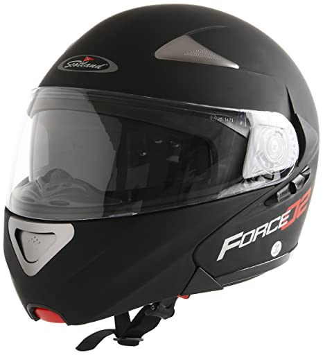 Amazon.es: Scotland Casco Modular de Moto Modelo Force 02, Negro Mate, 59-60 (L)
