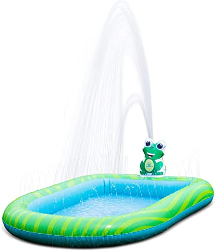 Splashin Kids 3 In 1 Inflatable Sprinkler Pool Kiddie Pool Kids Pool Toddlers Wading Swimming Outdoor Play Mat Splash Pad 9 Months And Up Boys Girls Large Small And Large Size Toys