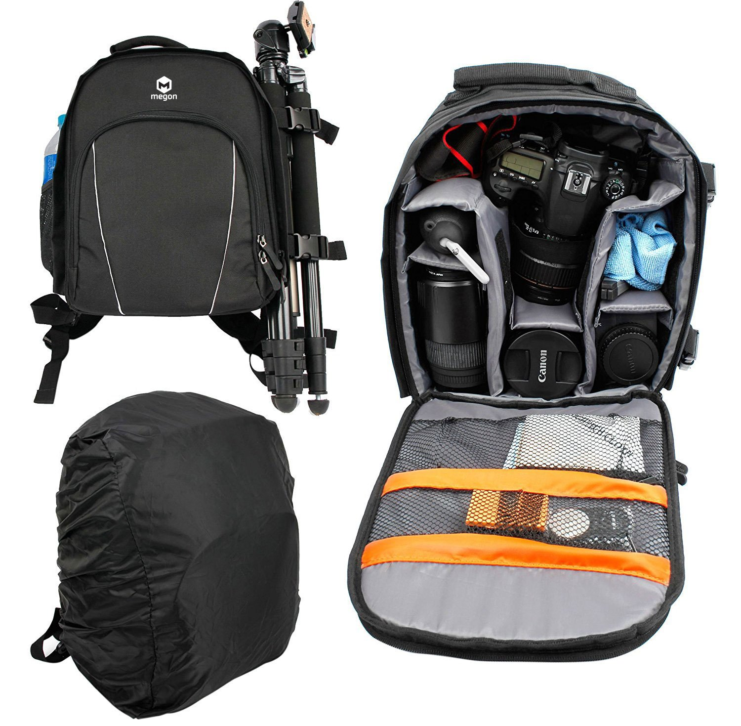 Professional Multi Functional Waterproof Camcorder Combination Bag Anti-shock SLR / DSLR Camera Storage Bag, Backpack for Pentax K-S2 & K100D & K200D & K3 Porum