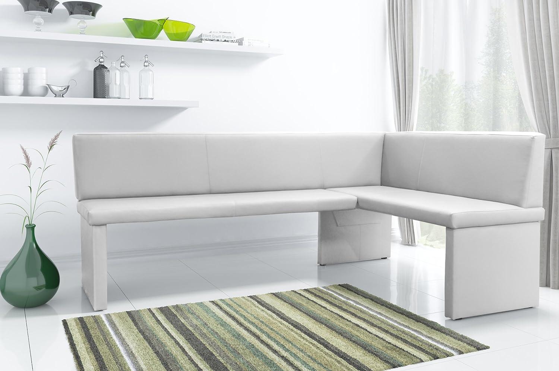 eckbank wei kunstleder. Black Bedroom Furniture Sets. Home Design Ideas