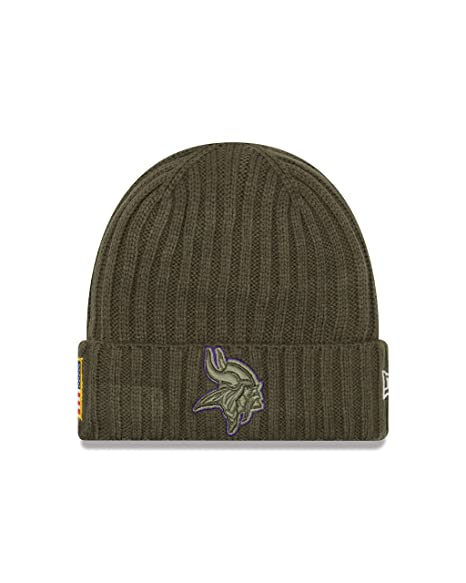 758acc339 Image Unavailable. Image not available for. Color  Minnesota Vikings New  Era 2017 NFL Sideline  quot Salute to Service quot  Knit Hat