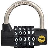 Yale Locks YALY16048 48 mm Steel Five Dial Combination Padlock