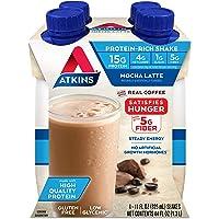 Atkins Gluten Free Protein-Rich Shake, Mocha Latte, Keto Friendly, 44 Fl Oz (Pack of 1)