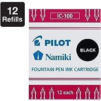 Pilot IC100, Repuesto, Tinta Líquida Negra, Cartucho, Caja 1 Caja c/u 12 Cartuchos (69100)
