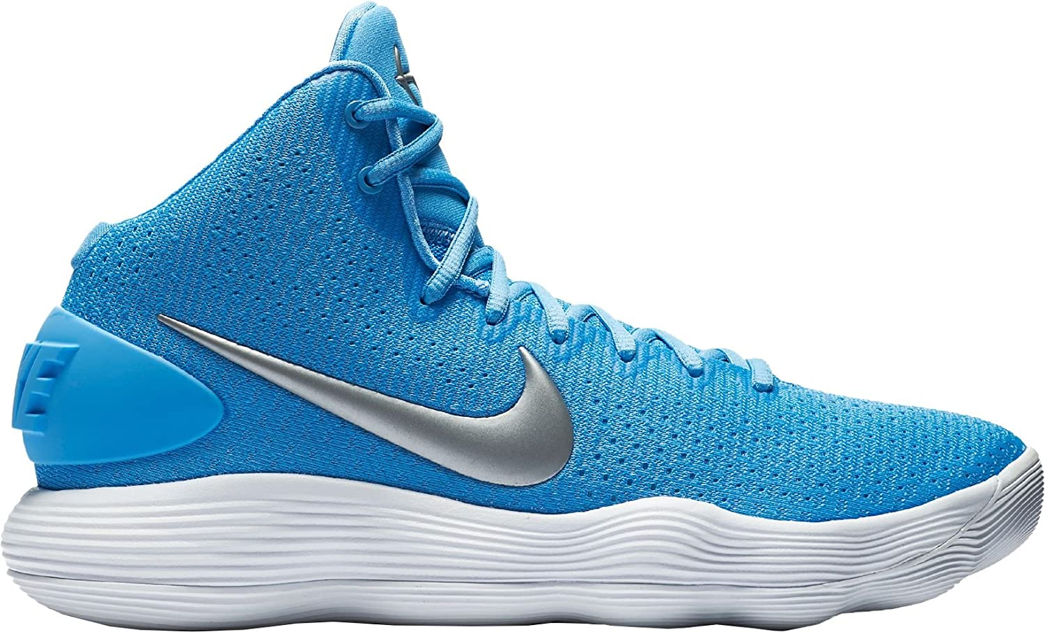 71b42d1af5cf Amazon.com  Nike Men s React Hyperdunk 2017 Basketball Shoes (University  Blue Grey