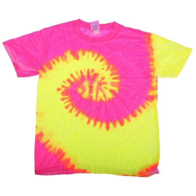 Tie-Dye - Camiseta psicodélica de manga corta Modelo Spiral Unisex Niños  Niñas - Moda 0c8eb5b9ee0