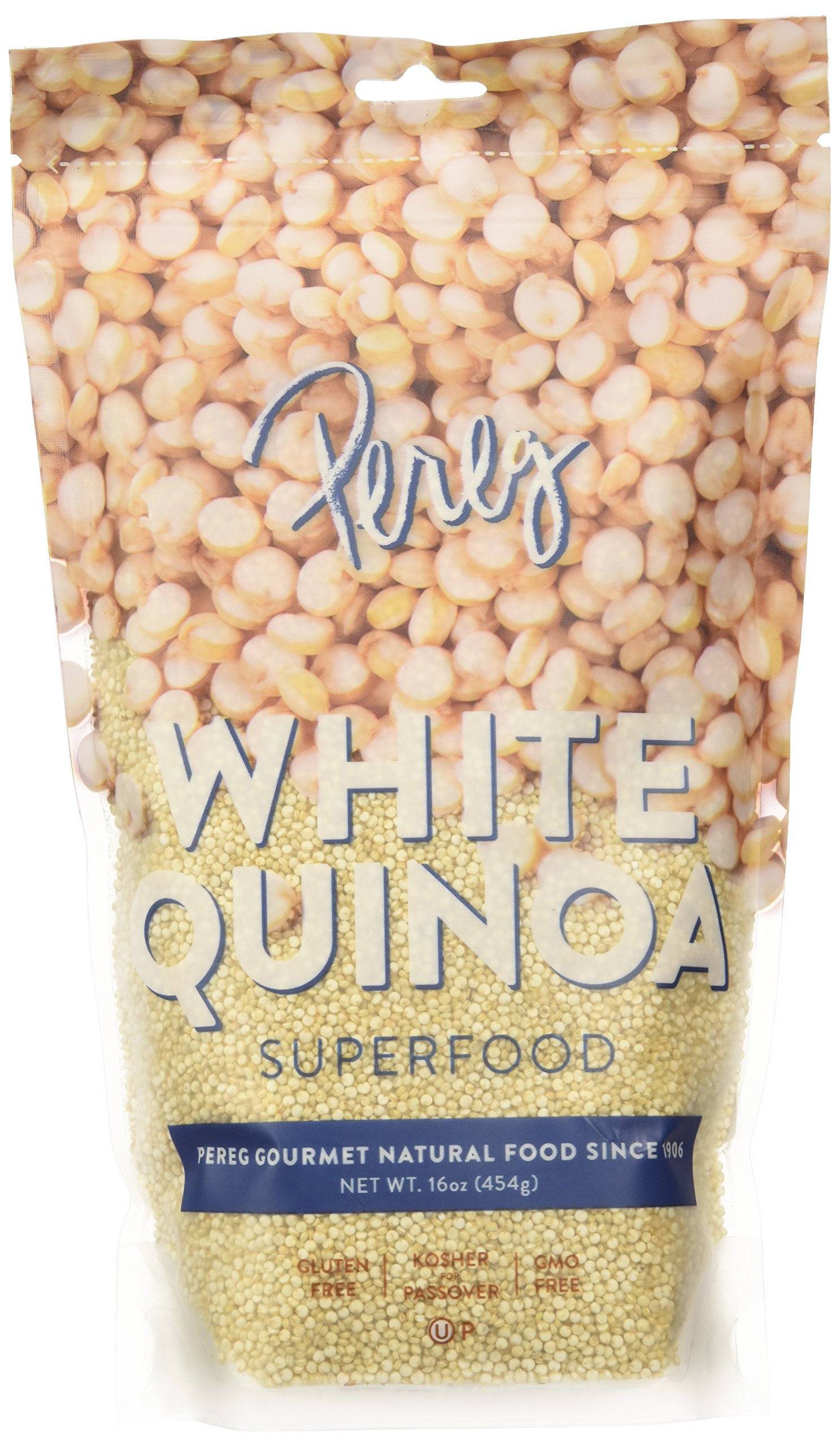 Pereg Natural Foods White Grain Quiona, Gluten-Free, All-Natural, Non-GMO, Kosher, 1lb