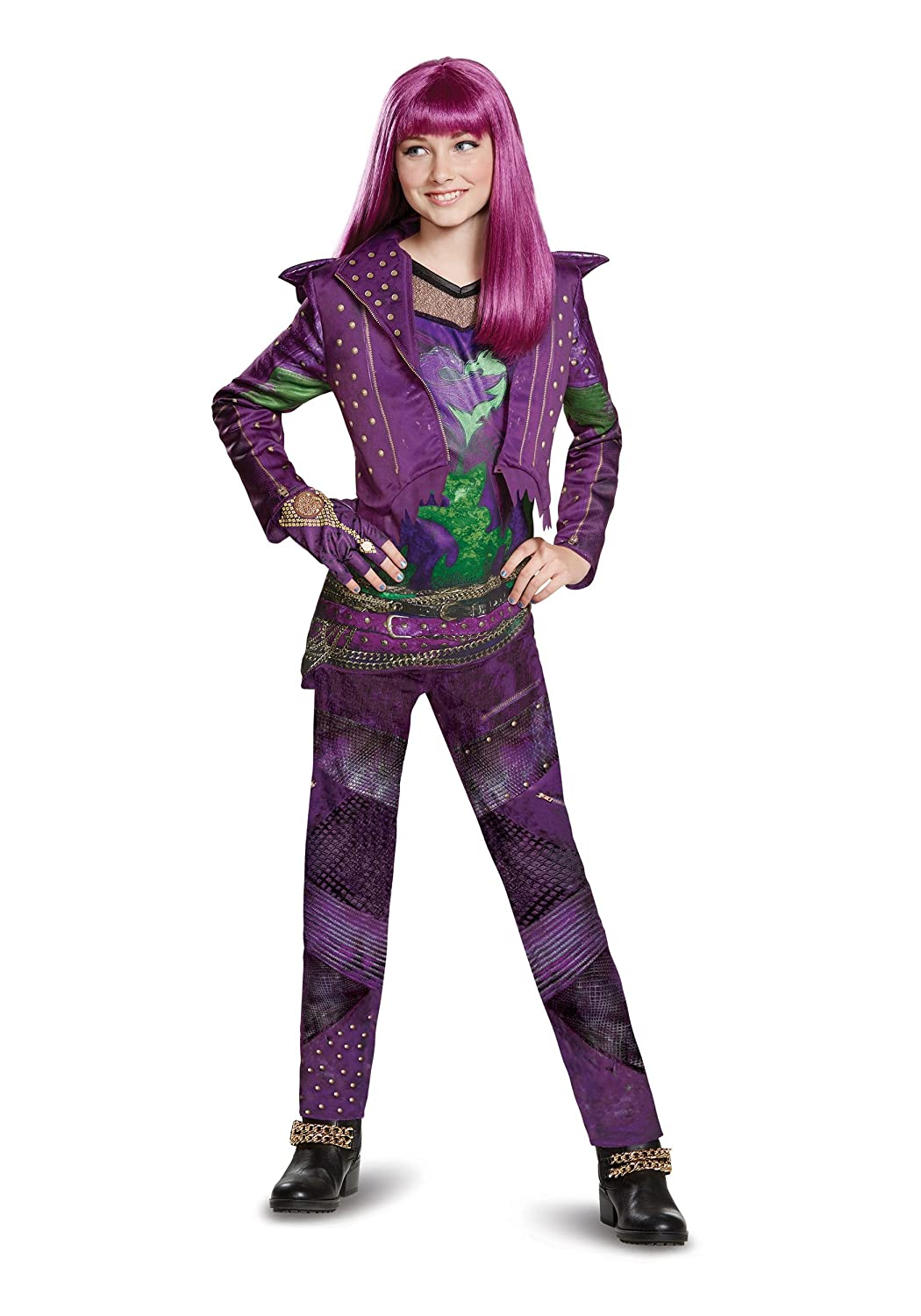 Disney Mal Deluxe Descendants 2 Costume, Purple, Large (10-12) 24126G