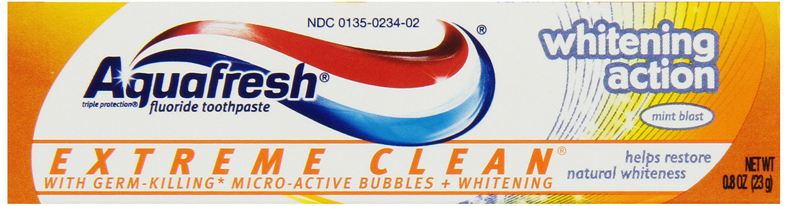 Aquafresh Extreme Clean Whitening Mint Experience Toothpaste, Trial Size (Pack of 36)