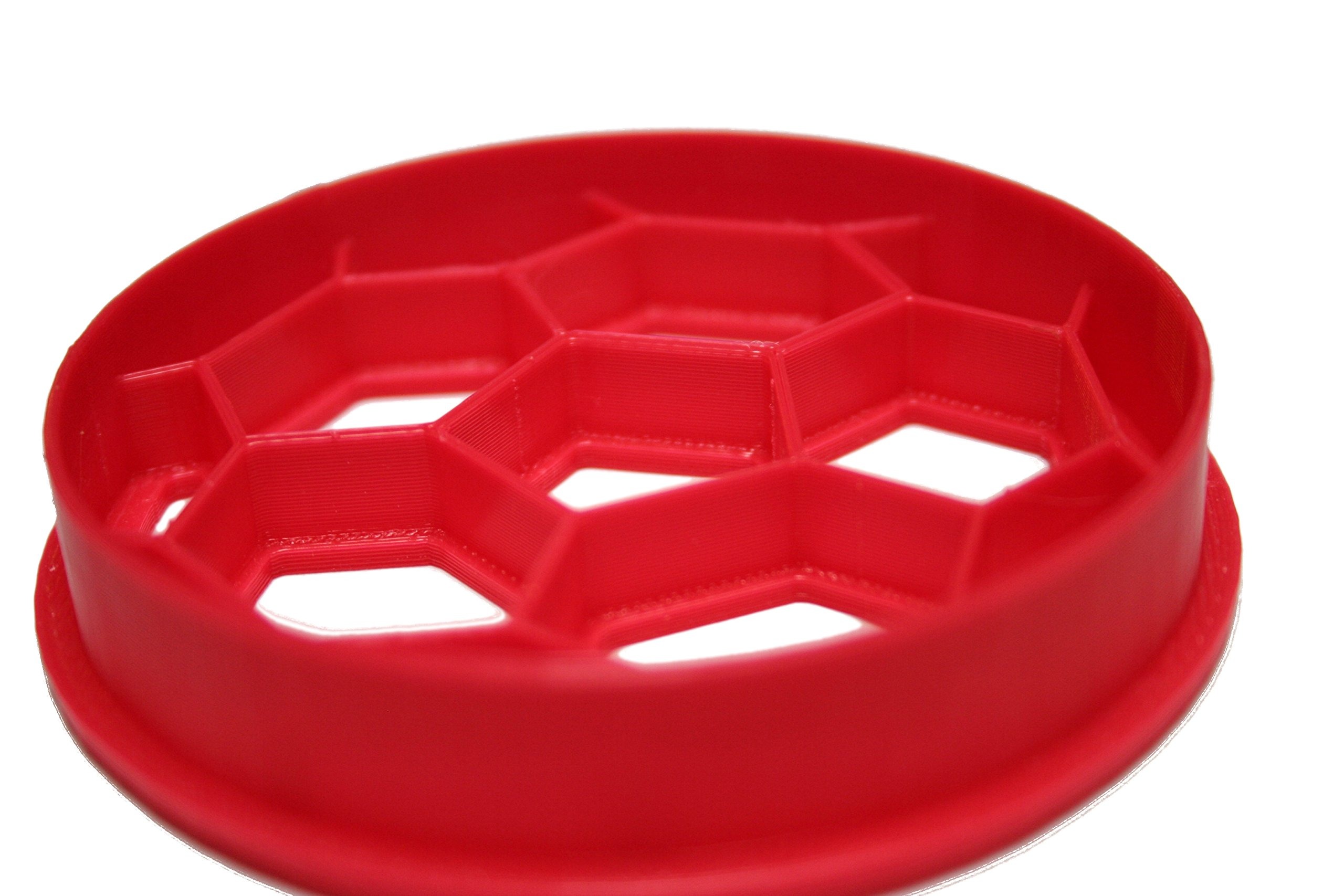 Soccer Ball Cookie Cutter 3 Approx. 3 inches wide by 3 inches tall HANDWASH ONLY Plastic-PLA