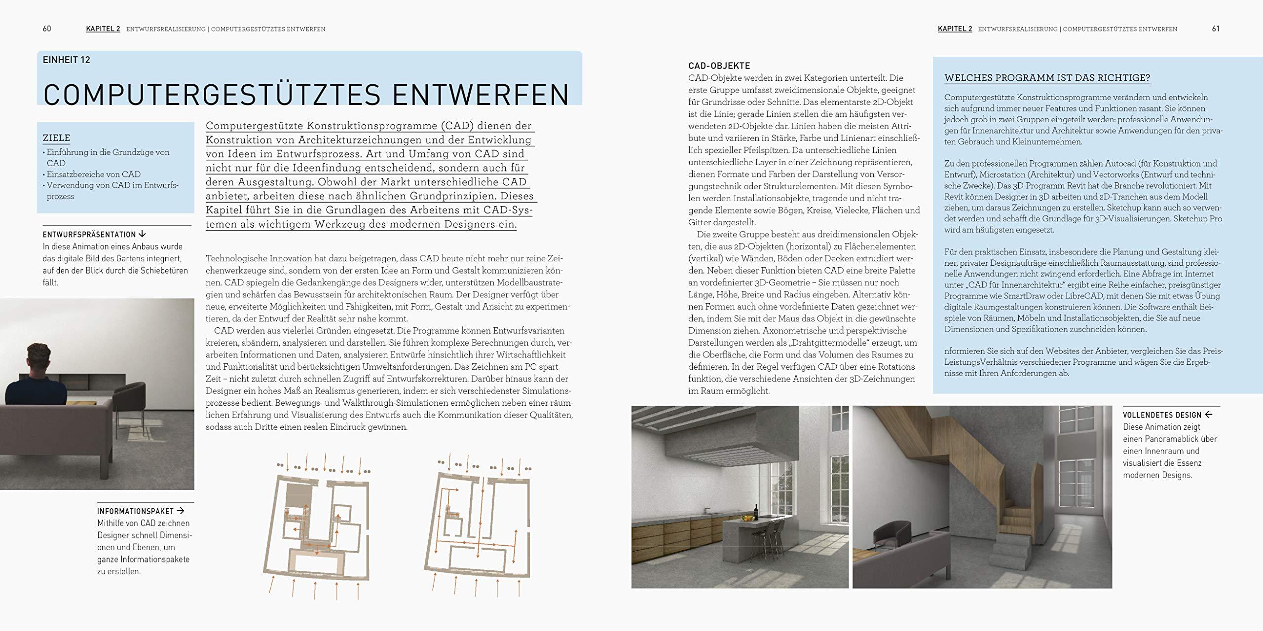 Der Interior Design Kurs Grundlagen, Techniken und Übungen zur ...