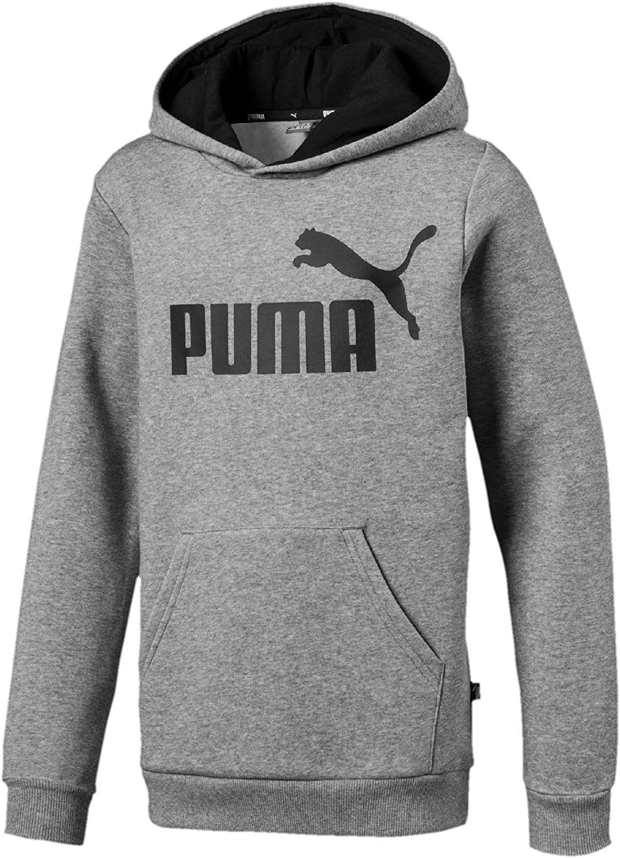 PUMA Unisex Kids Ess Logo Hoodie Fl B Long Sleeve Sweatshirt