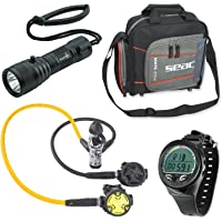 SEAC Synchro Scuba Regulator Octo With Aeris Dive Computer & Padded Regulator Package