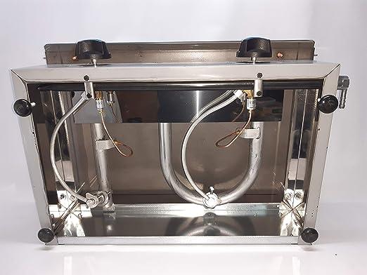 Plancha profesional a gas especial hosteleria bar, placa 8mm.: Amazon.es: Industria, empresas y ciencia