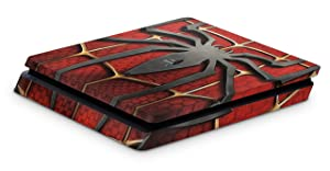 giZmoZ n gadgetZ PS4 Slim Console Spiderman Skin Decal Vinal Sticker + 2 Controller Skins Set (Color: Spiderman, Tamaño: Playstation 4 Slim)