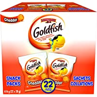 Goldfish Cheddar Crackers, 22 Snack Packs, 28g Each