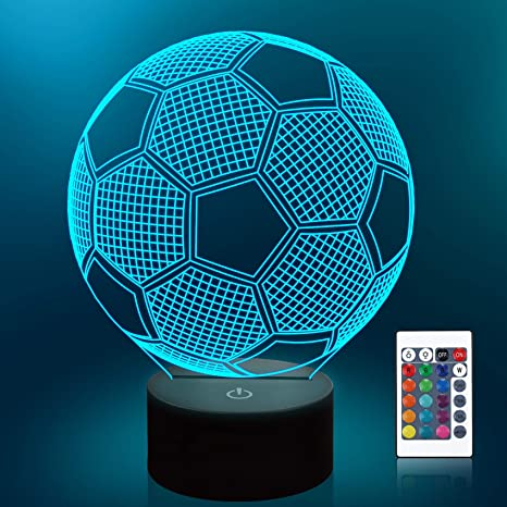 3D sports shoes acrylic 7 colors led table Desk night lights lamp Touch Kid GIFT