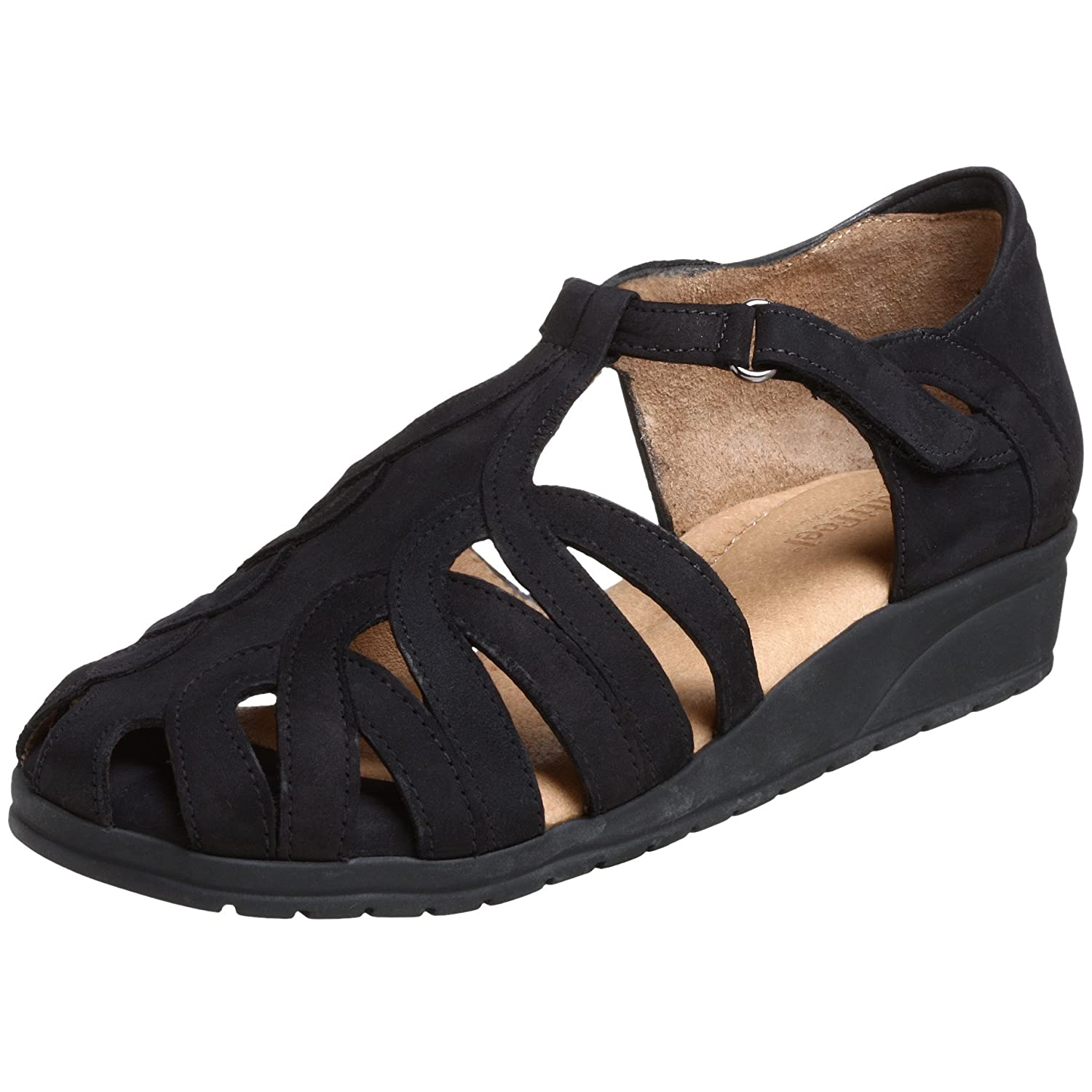 BeautiFeel Women's Brazil Wedge Sandal B001395SJK 37 EU (US Women's 7 M)|Black Nubuck