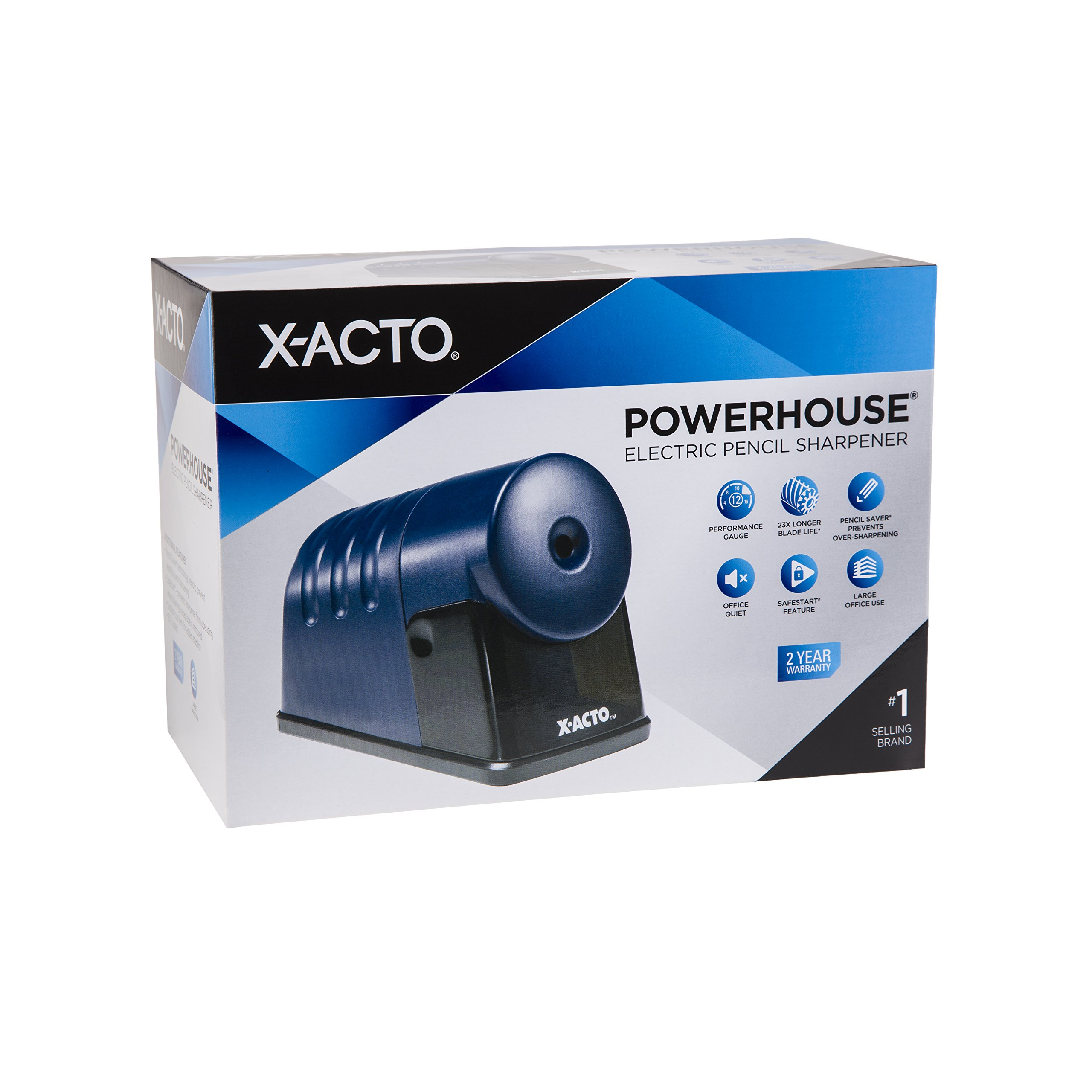 X-ACTO Powerhouse Electric Pencil Sharpener, Navy Blue by X-Acto (Image #5)