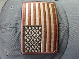 amazoncom tactical usa flag patch subdued red white