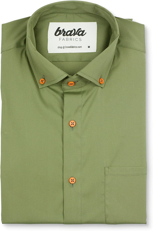 Brava Fabrics | Camisa Hombre Manga Corta Estampada | Camisa Verde para Hombre | Camisa Casual Regular Fit | 100% Algodón | Modelo Adventure Essential | Talla 3XL: Amazon.es: Ropa y accesorios