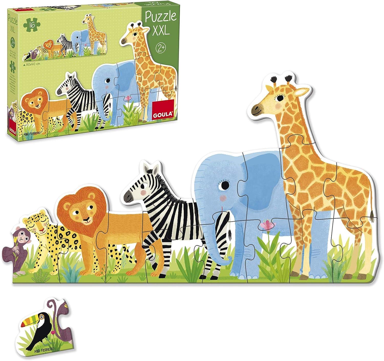 Goula Puzzles infantiles de la Selva de pequeño a grande
