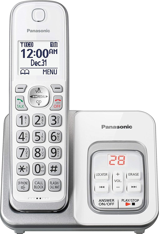 Panasonic KX-TGD530W Cordless Phone with Answering Machine - 1 Handset (Renewed)
