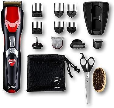Imetec Ducati - Gk 818 Race - Kit Recortador de barba, 16 en 1 para cara y cuerpo, cuchillas Revestidas de Titanio, Cuchilla Extralarga, Minimaquinilla de afeitar, Recortador de precisión: Amazon.es: Salud y cuidado personal