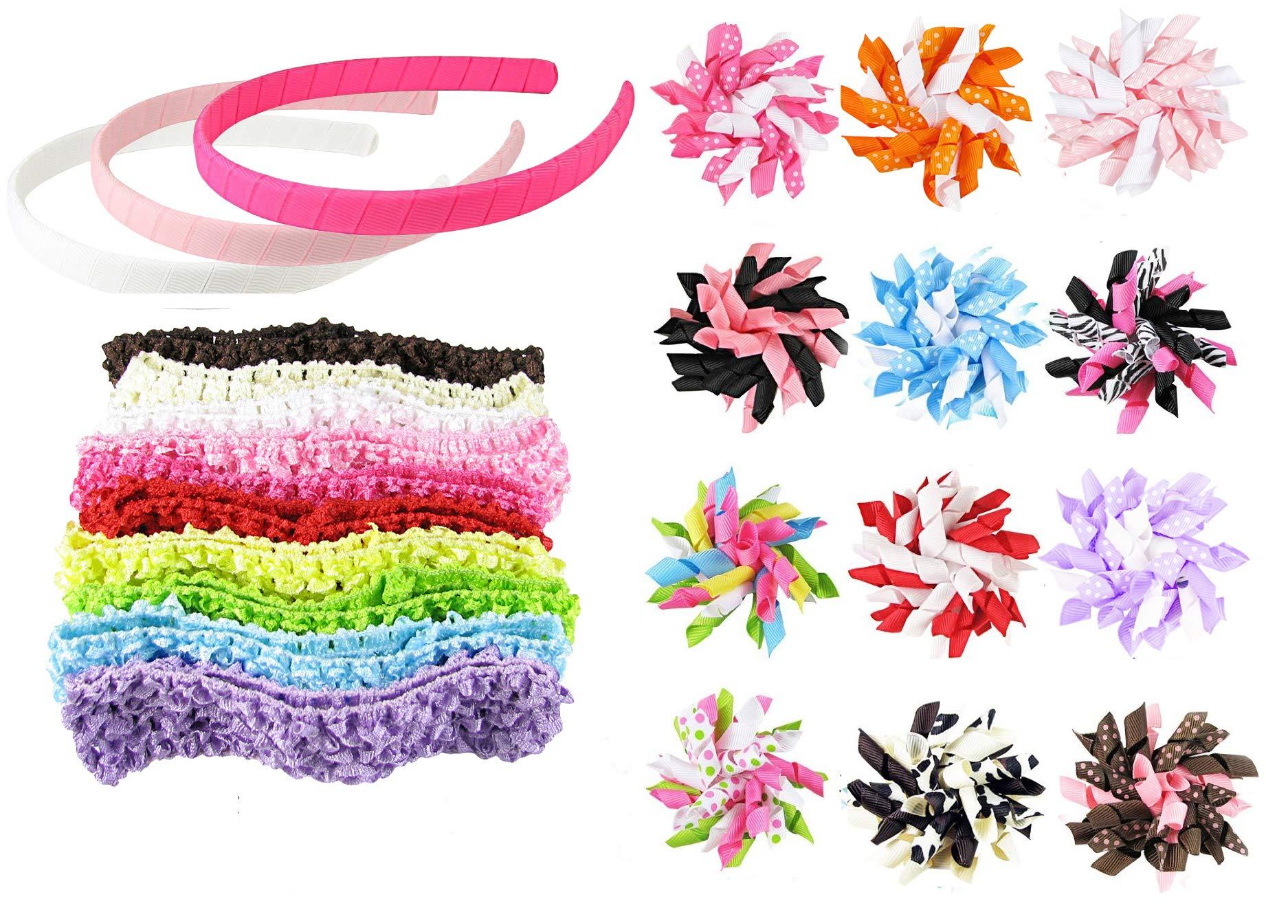 Amazon polytree 7pcs boho style flower women girls hair band baby girl hair clips toddler girl hair bows hipgirl 25pc bow for girls izmirmasajfo