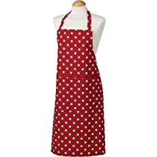 Belle Classic Red Polka Dot Apron