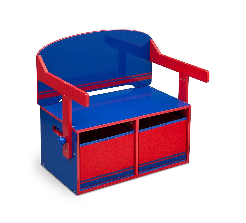 Delta Children - Mobile 3 in 1 con panchina e scrivania, colore blu/rosso TB84566GN