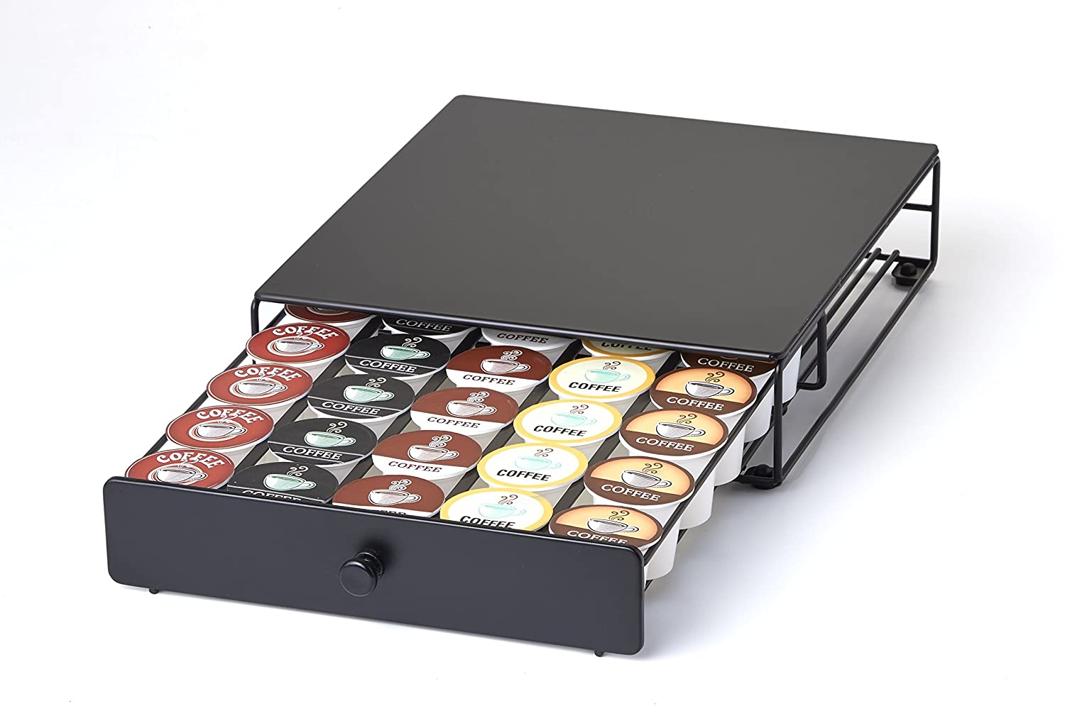 36 k cup holder rack storage stand keurig coffee pod chrome drawer organizer mat ebay. Black Bedroom Furniture Sets. Home Design Ideas
