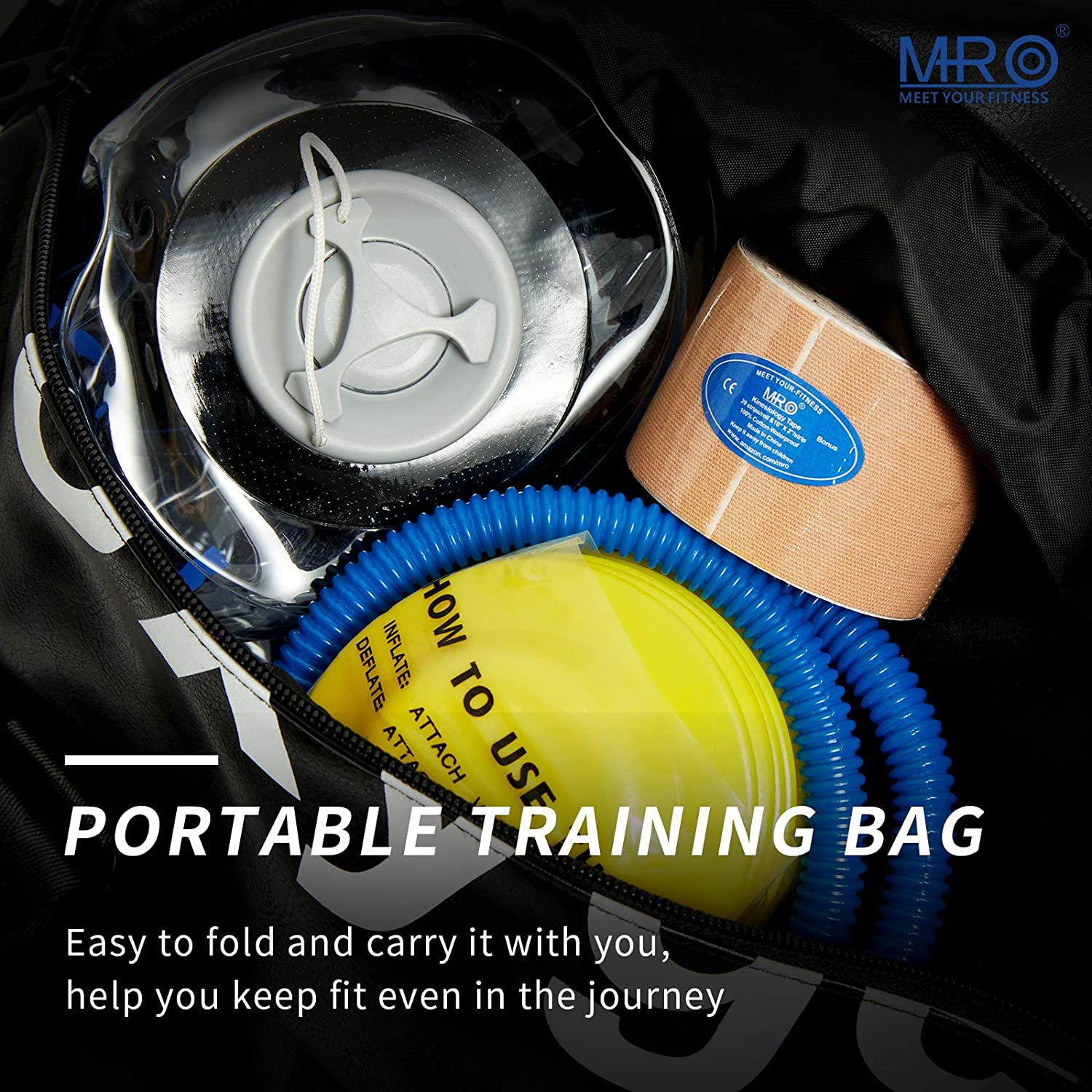 MRO Adjustable Aqua Bag, Sandbag Alternative, Power Bag with Water, Core and Balance Training Weight Bag, Portable Stability Home Gym Fitness Equipment for Full Body Workout (Cylinder -Max 30lbs) : Sports & Outdoors