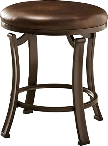 Hillsdale Furniture Hastings Backless Vanity Stool, Antique Brown