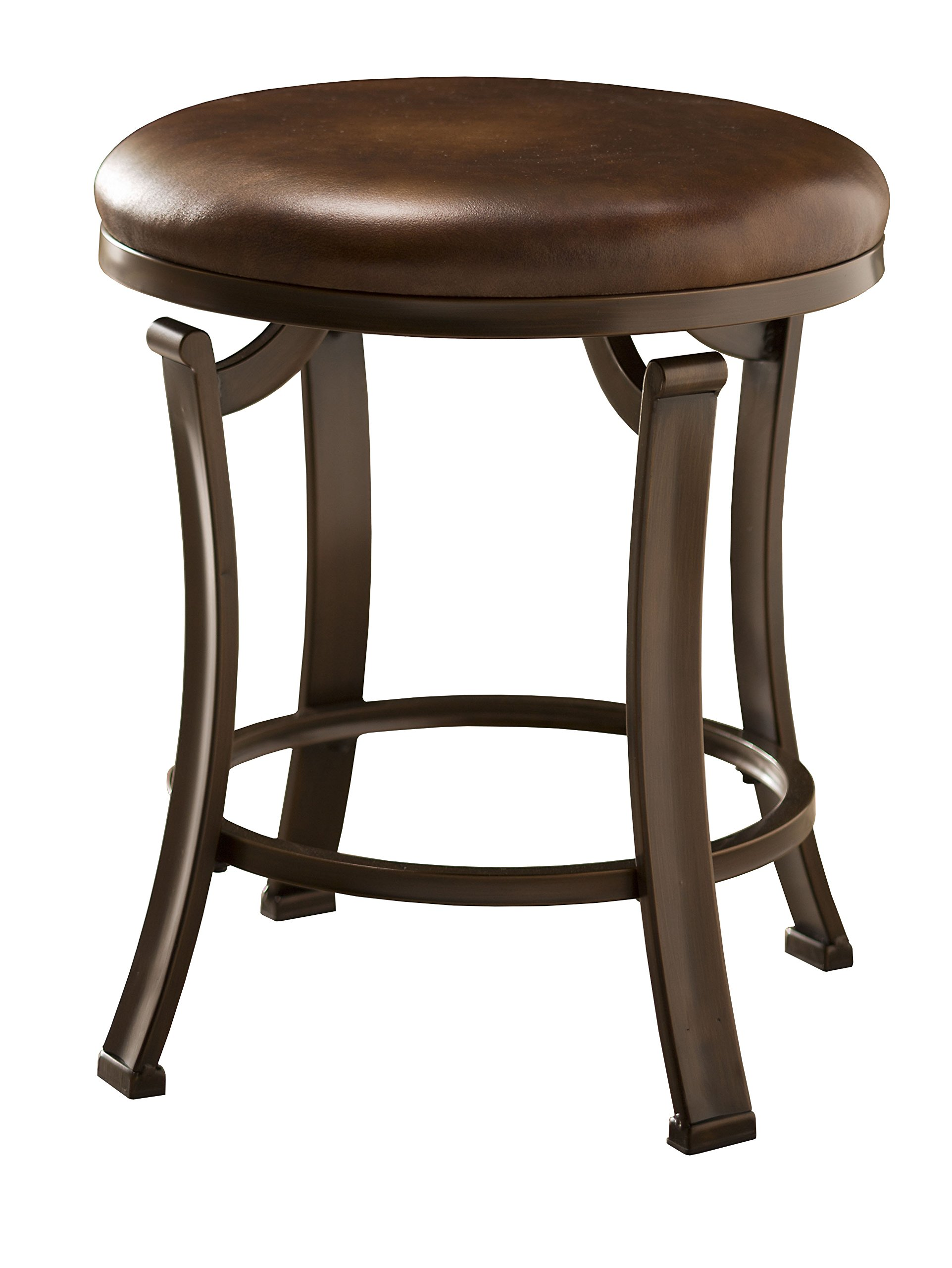 Hillsdale Furniture 50975A Hastings Backless Vanity Stool, Antique Brown by Hillsdale Furniture