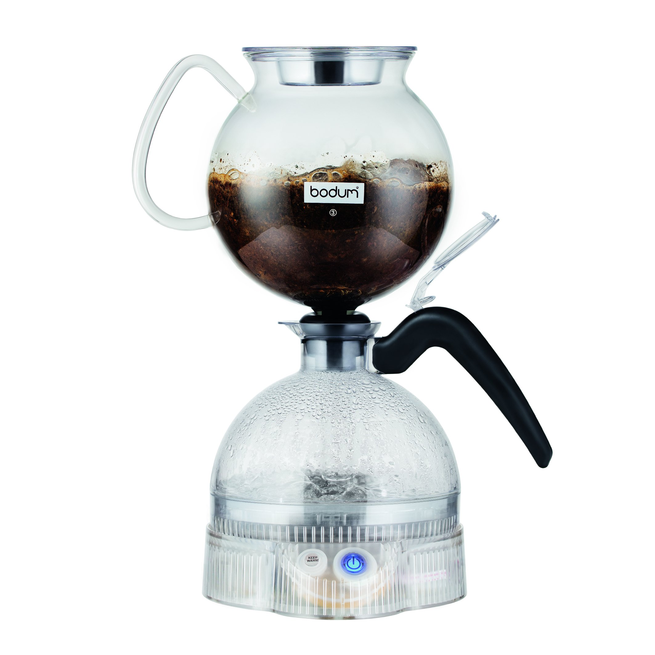 Bodum ePEBO Coffee Maker, Electric Vacuum Coffee Maker, Siphon Coffee Brewer , Black, 34 Ounces.