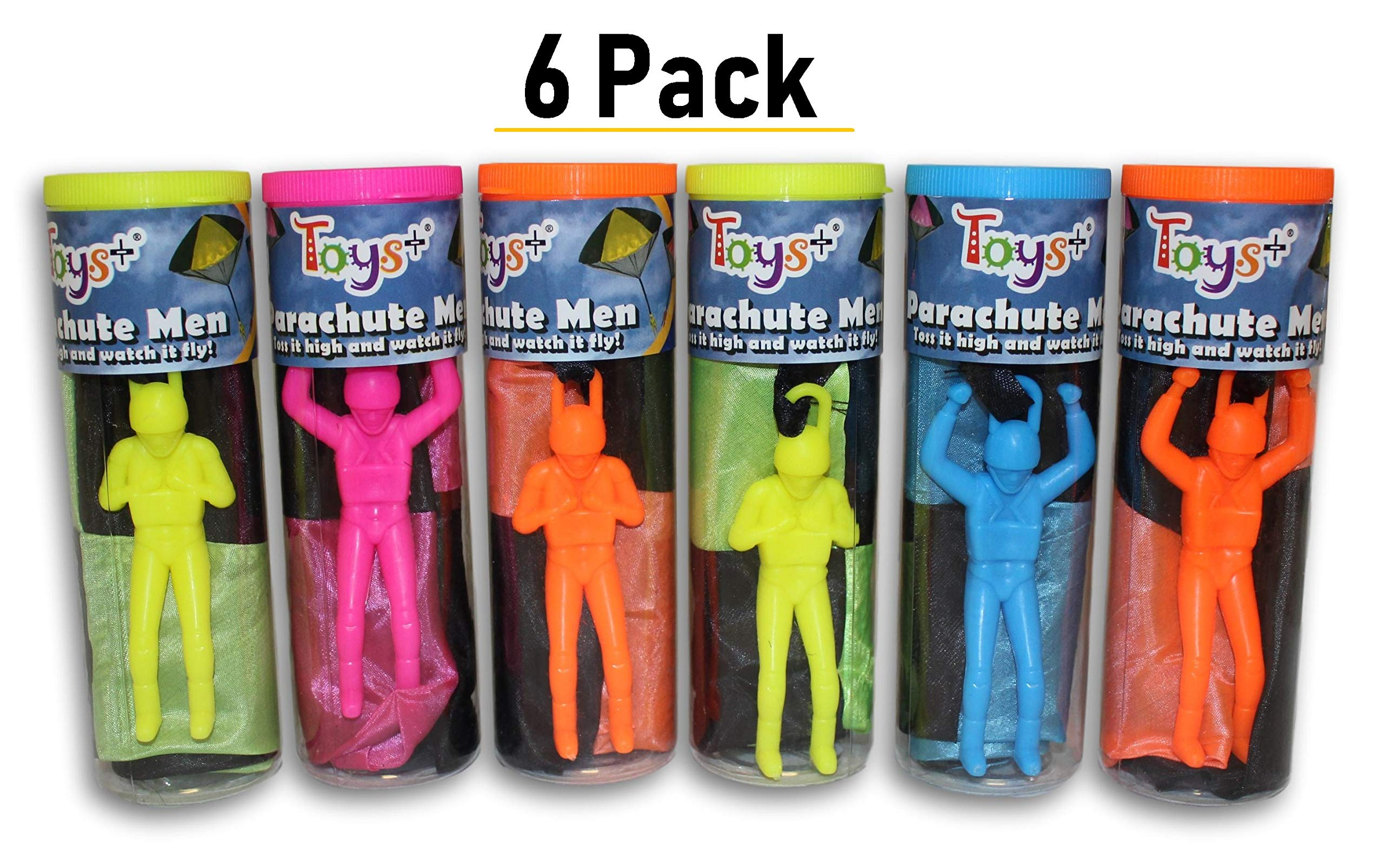 Toys+ Tangle Free Parachute Men 6 Piece Set Parachute (Colors and Styles May Vary) by Toys+