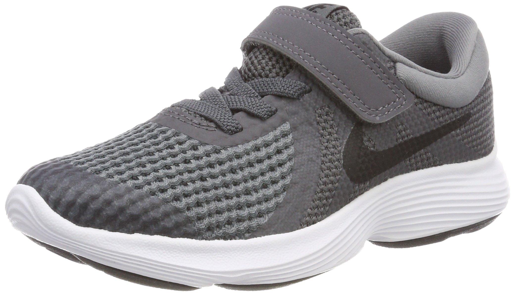 Nike Boys' Revolution 4 (PSV) Running Shoe, Dark Black-Cool Grey-White, 11.5C Regular US Little Kid by Nike